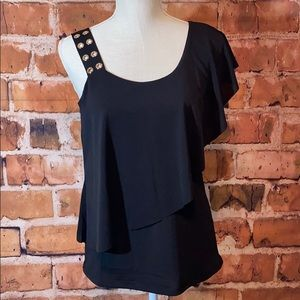 🎉Belldini One Shoulder Draping Layered Blouse🎉